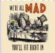 Alice In Wonderland We're All Mad, You'll Fit Right In drinks mat / coaster (og)